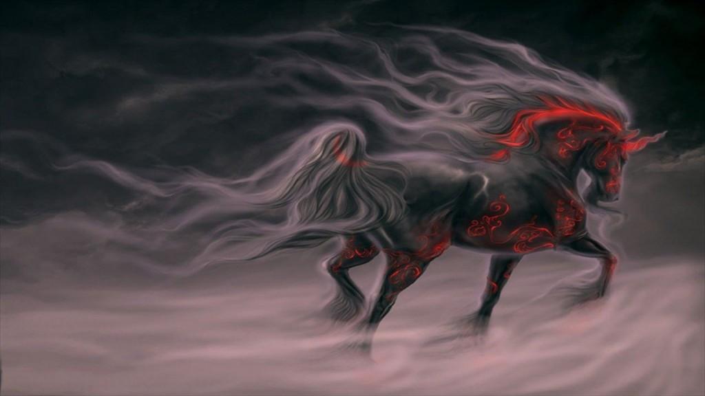 tatoué cheval fond d'ècran