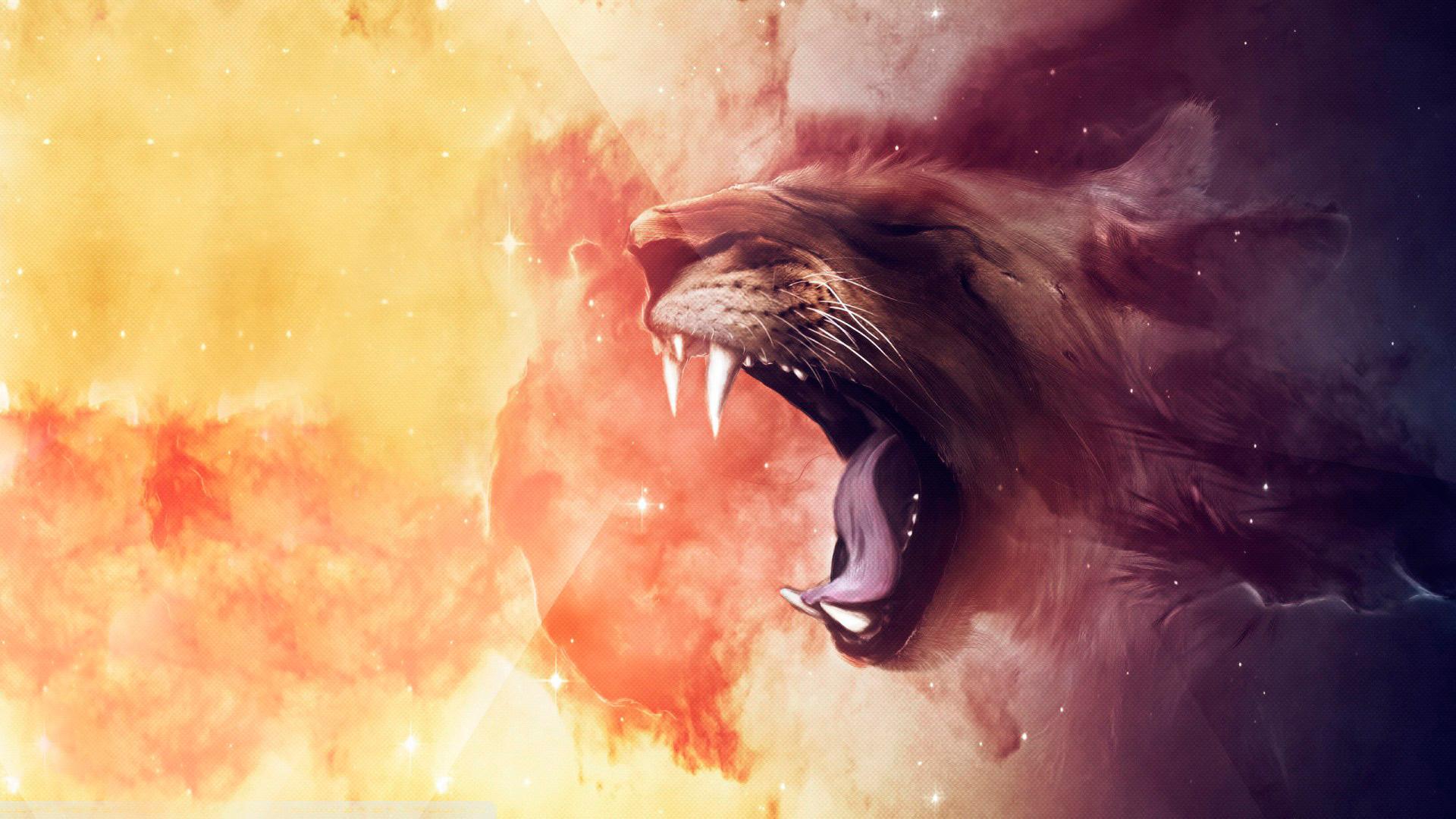 Gueule de leon fond d'écran